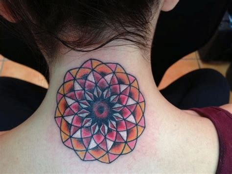 mandala neck tattoo 63 attractive mandala neck tattoos