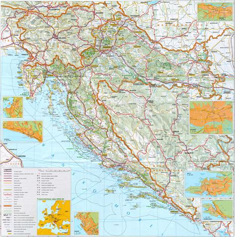 road map of maps of croatia detailed map of croatia in