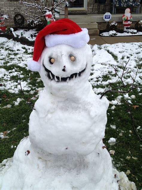 return   scary snowmen winter strikes
