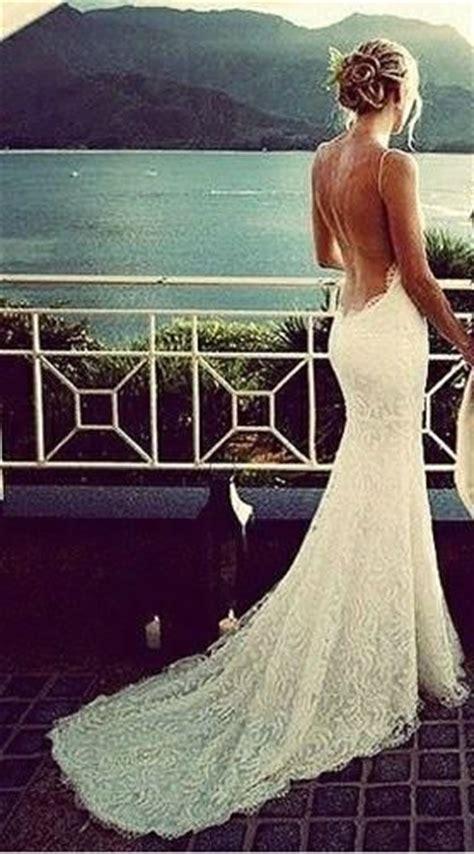 Low Back Lace Wedding Dress – lace low back wedding dress Naf Dresses