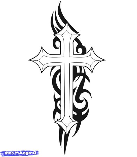 how to draw a cross tattoo how to draw a simple cross simple cross drawing how to