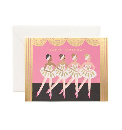 card greetings birthday ballet greeting card by rifle paper co made in usa