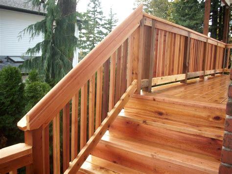 Cedar Handrail portland cedar deck cedar rail deck masters llc portland or