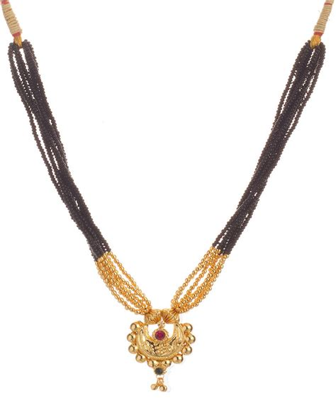 New Trend 24k Gold Nersels Designer Trendy Gold Jewelry by Buy Chandramukhi 24k Gold Plated Alloy Mangalsutra