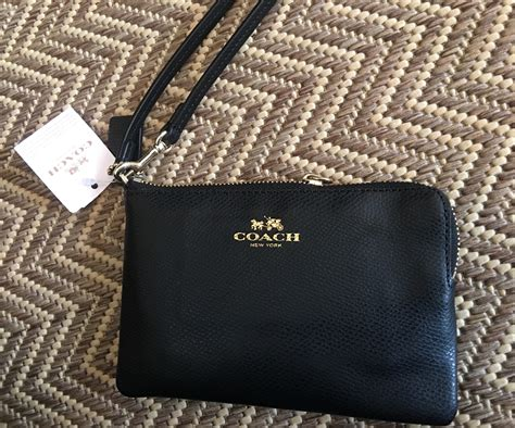 Coach Crossgrain Corner Zip Small Wristlet Purple Origi Berkualitas coach black corner zip crossgrain leather wristlet