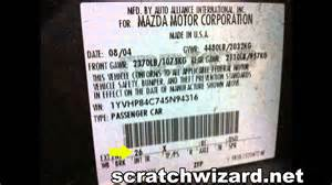 how to find your mazda s paint code