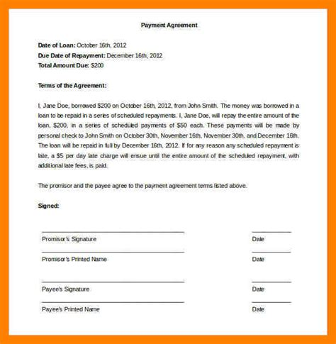 8 Installment Payment Agreement Template Emt Resume Installment Payment Contract Template