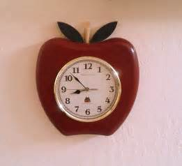 Country Apple Kitchen - retro kitchen apple clock sterling amp noble country clock