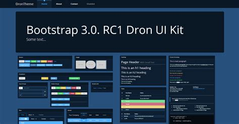 themes bootstrap 3 bootstrap 3 0 theme dron dark ui bootstrap themes on
