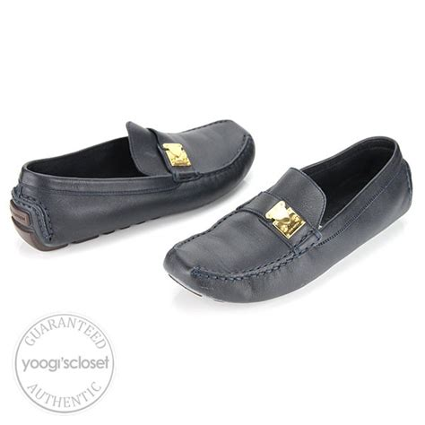 louis vuitton blue suede loafers louis vuitton navy blue leather loafers size 8 yoogi s