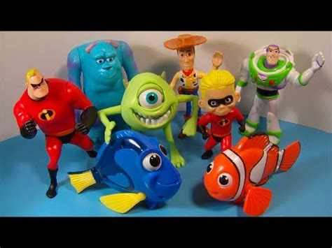 Nanoblock Tom And Jerry Stitch Mini Lego Brick Frozen 2005 disney s pixar pals set of 8 mcdonald s happy meal