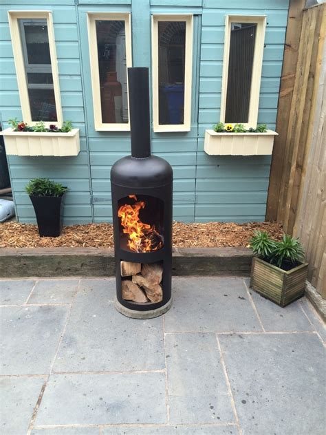 gas bottle chiminea plans chimenea patio garden woodburner log woodburning stove gas