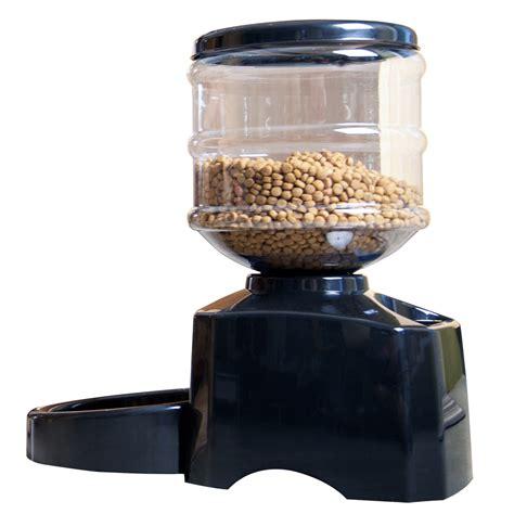 food feeder automatic pet food drink dispenser cat feeder bowl dish w large programming