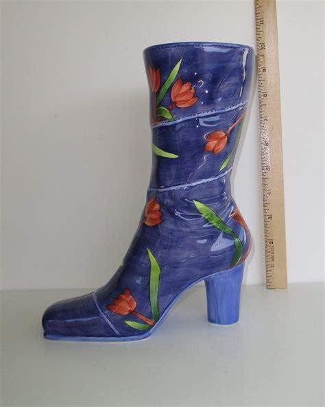 ceramic boot vase ceramic boot vase 9 inch never used