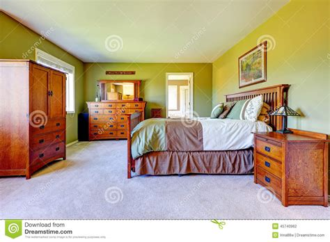 bright green bedroom master bedroom interior in bright green color stock photo image 45740962