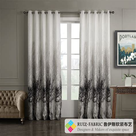 what stores sell curtains ruiz fabric custom made hot sell modern jacquard black