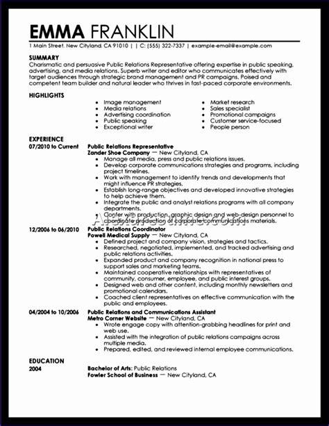 Excellent Resume Exle