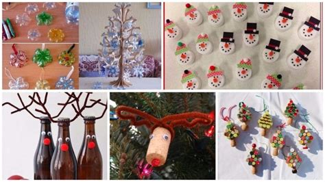 christmas decoration using recycled materials decorations with recycled material 25 ideas simple craft ideas