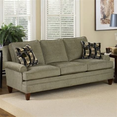 charles schneider halliday gray fabric sofa with accent