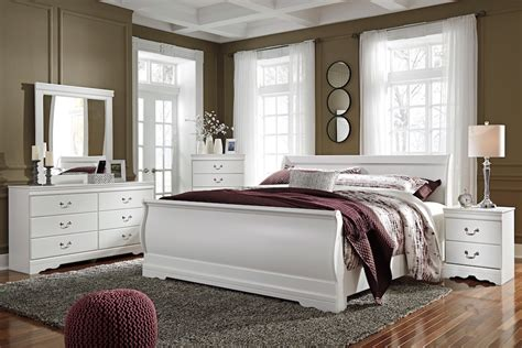 ashley sleigh bedroom set ashley anarasia collection b129 bedroom set