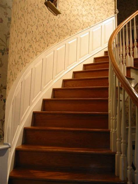 Raised Wainscoting Panels by Raised Panel Wainscoting For A Spiral Stairwell