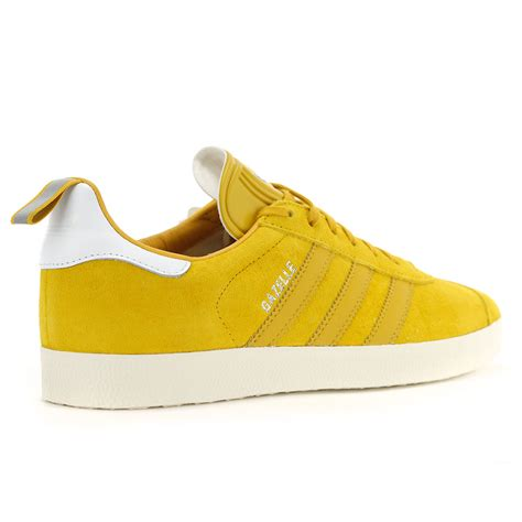 adidas men s gazelle yellow leather ostrich pack shoes