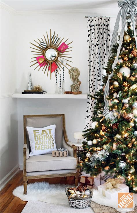 style at home christmas decorating ideas 35 beautiful gold and white christmas d 233 cor ideas