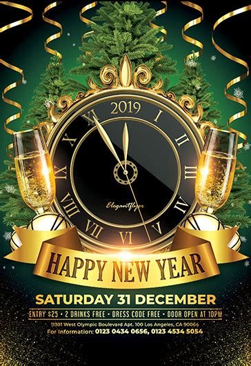Free New Years Eve Flyer Templates In Psd By Elegantflyer New Years Flyer Template