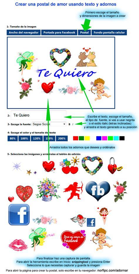 decorar fotos para el facebook insertar texto adornos y decoraciones en fotos e imagenes