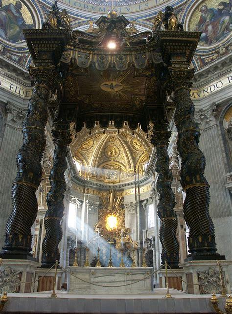 baldacchino di bernini datei rom vatikan petersdom baldachin und cathedra