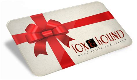 Fox And Hound Gift Card - gift cards