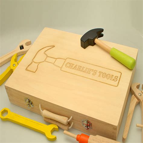 Personalised Children's Wooden Toy Tool Set   Engraved By
