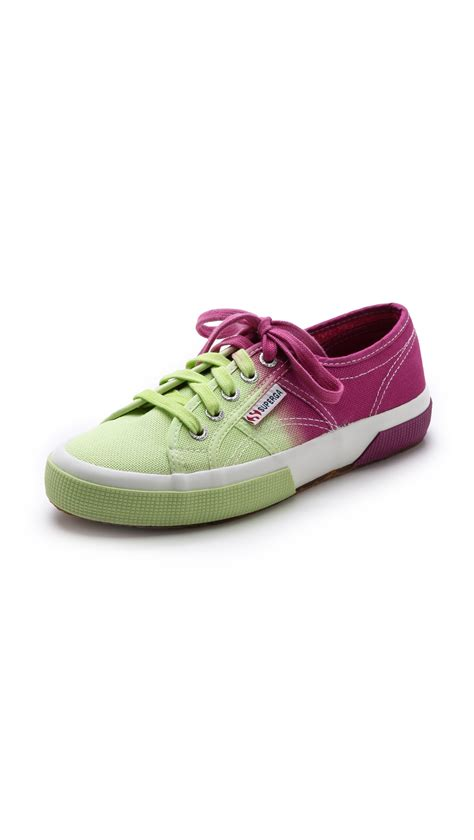 ombre sneakers superga ombre sneakers in green yellow multi lyst