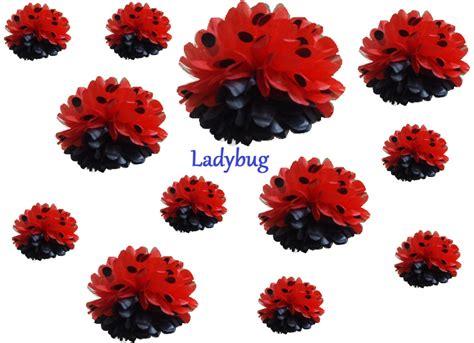 How To Make Paper Pom Pom Flowers - 12 tissue paper flower pom poms you colors