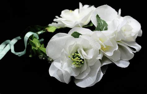 Flores Maxy maxi coroa de flores brancas madame vintage elo7