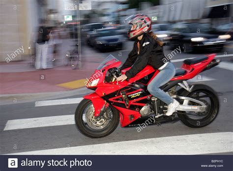 honda cdr bike miami beach florida collins avenue woman motorcycle bike