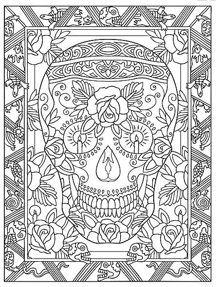 simply creative coloring book for adults books creative day of the dead coloring book dover