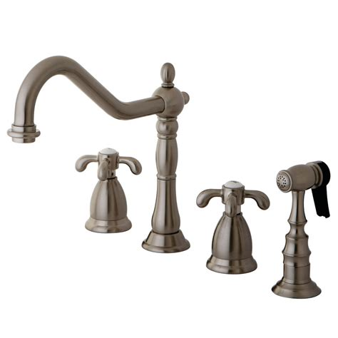 kingston brass kitchen faucets kingston brass ks1798txbs country widespread