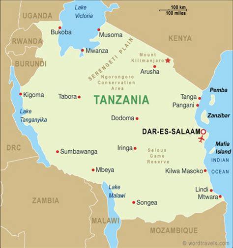tanzania on the map tanzania map safaris tanzania tours and safaris