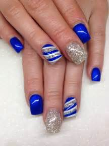 gallery for gt blue and silver nail designs for prom