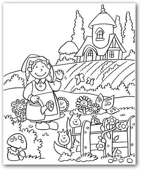 Imagenes Para Colorear Jardin | dibujos de flores hermosas para descargar imprimir y