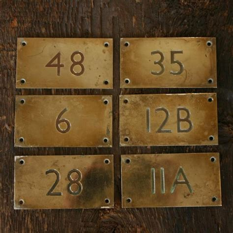 Front Door Number Plates Deco Style Brass Door Number Plates 183 The Architectural Forum
