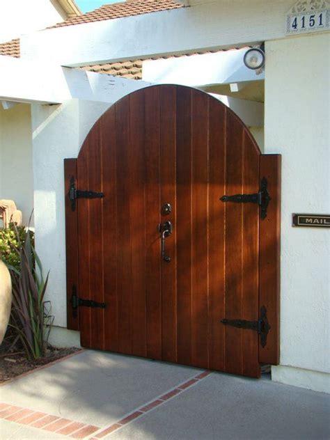 wood gate wooden gate designs entry gates