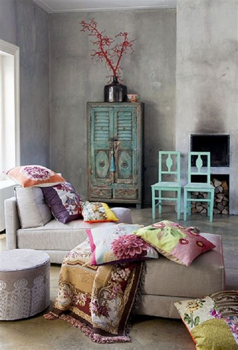 Bohemian Living Room Decor by 20 Amazing Bohemian Chic Interiors Grey Walls Grey And