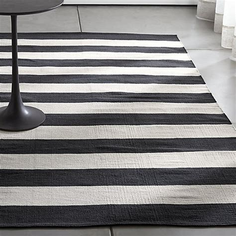 Black And White Striped Kitchen Rug Cotton Striped Floor Rug Black White Striped Cotton Rug Black Green With Envy