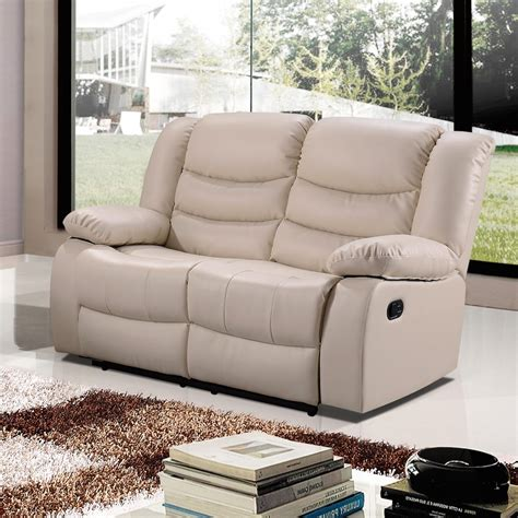 cream leather sofa belfast ivory cream recliner sofa collection in bonded leather