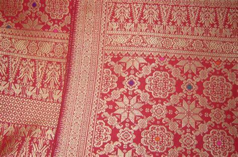 Songket Tenun Asli Palembang Bungo Cino Merah Pengantin 69 palembang bumi sriwijaya motif songket palembang