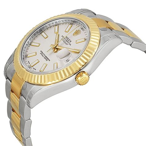 Rolex Oyster Rantai Gold rolex datejust ii ivory stainless steel and 18k yellow gold rolex oyster automatic