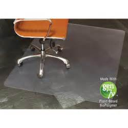 Desk Floor Mats E S Robbins 143022 Gen7v Clear Rectangular Chair Mat Floor