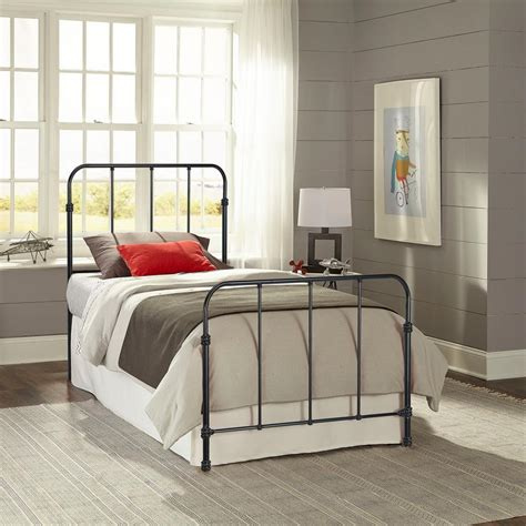 metal headboard and footboard full fashion bed group nolan space black full headboard and